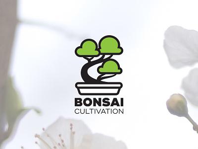Bonsai Cultivation Logo (Concept #1) bonsai horticulture tree logo branding cultivation colorado