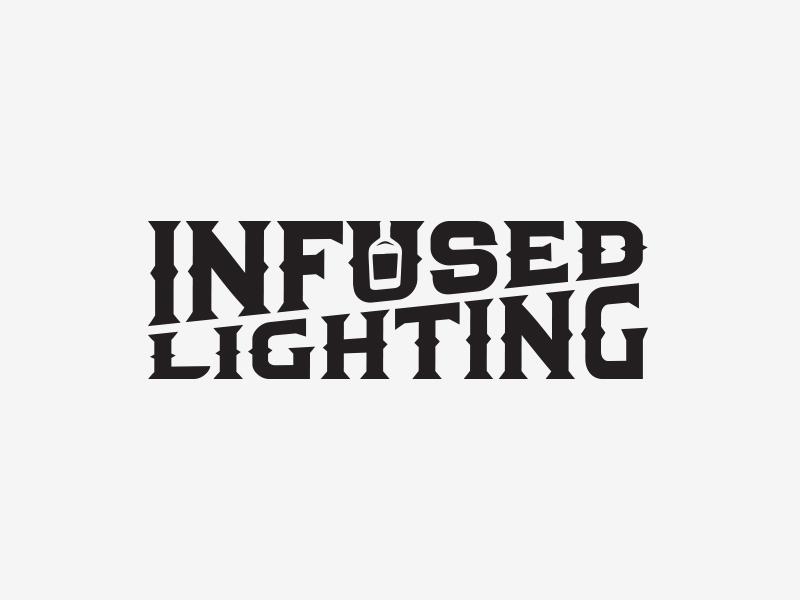 Infused Lighting bottle vintage asheville vector logotype liquor lighting branding logo