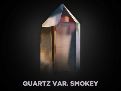 Smokey Quartz gem mineral vector smokey quartz illustration gradient mesh crystal