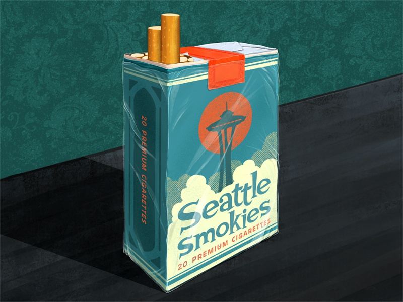 Smokes! Let's Go! procreate lettering typography type seattle 2d procreate digital painting illustration smokes cigarette