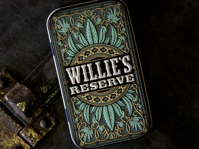 Joint Tin willie nelson packaging emboss tin pot weed cannabis marijuana joint
