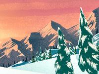 Snowy Sunset 2