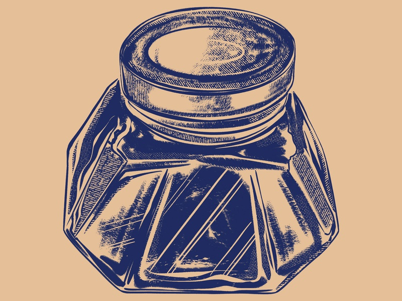 Ink Bottle Numero Dos ink bottle illustration digital painting procreate ipad pro drawing 2d retro container