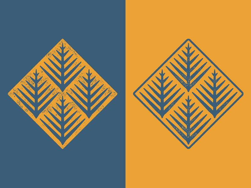 Fern Brand Thingy needles pattern leaves tree conifer ferns emblem 2d logomark logo branding brand leaf plant pine fern