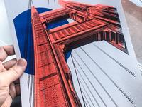 Golden Gate Riso Print