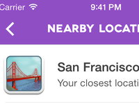 Nightlife iOS: Nearby Locations