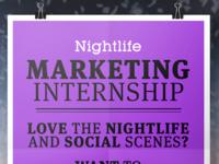 Nightlife Internship Instagram