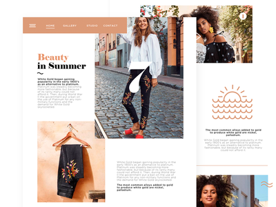 Beauty In Summer - Landing page interface ui 2018 clean web