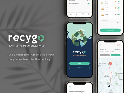 Recygo for Agents logo user experience design ux user interface ui uiux product design mobile design mobile app