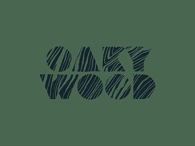 OAKYWOOD grain green font logodesign logotype oak typography wood logo