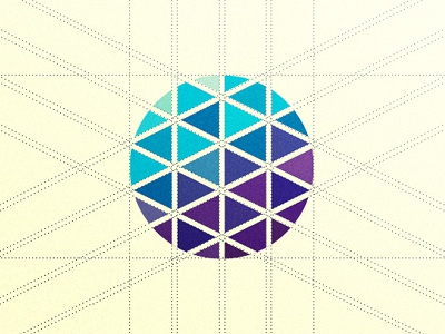 Qizo Mark logo icon mark purple blue circular guides