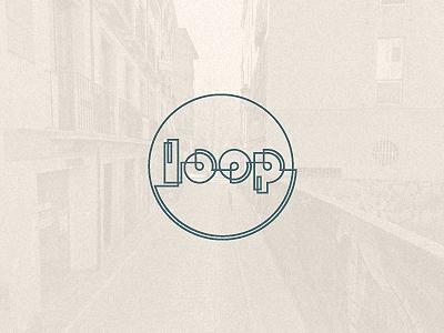 Loop logo icon circular typography