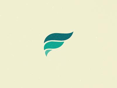 Falcon logo icon character bird falcon green