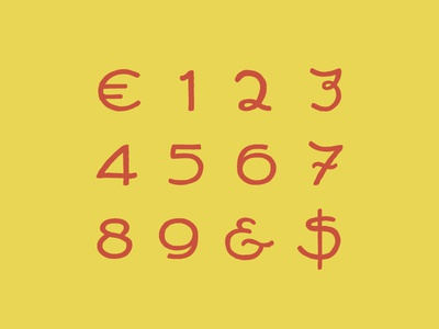 Glyphs of New Font