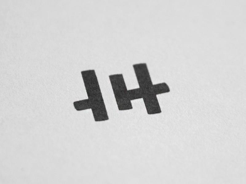 HC logo symbol monogram printed wip