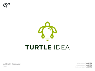 turtle idea logo concept turtle logo dualmeaning lamp turtle logoawesome idea logomaker technology logotype logo modern negative space logo abstract logo logodesign creative logo combination logo