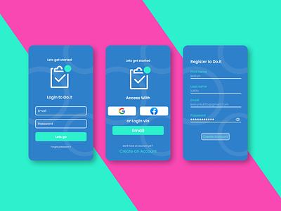 Mobile Exploration #1 - UI Design ToDo App website app typography ux ui illustration logo design