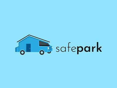 SafePark App Logo house car logo parking