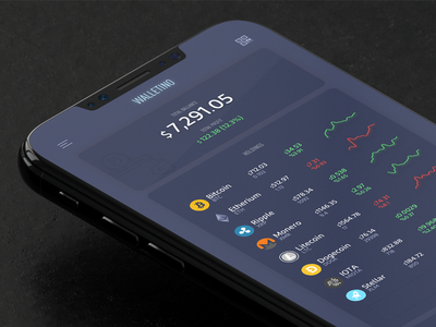 Walletino: Crypto portfolio + Sketch source portfolio wallet currency android ios crypto app