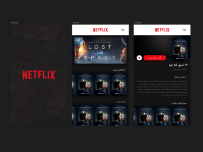 Redesign Netflix: Just for practice :)