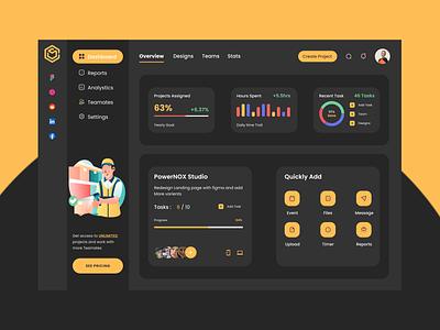 Project Management - Dashboard dashboard design dashboard ui dashboad project management minimal flat typography logo design branding ui ux uiux app