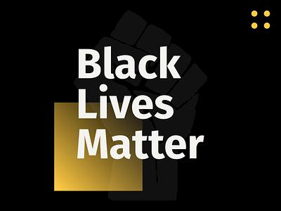 Black Lives Matter yellow black typography type branding design color flat blacklivesmatter blm