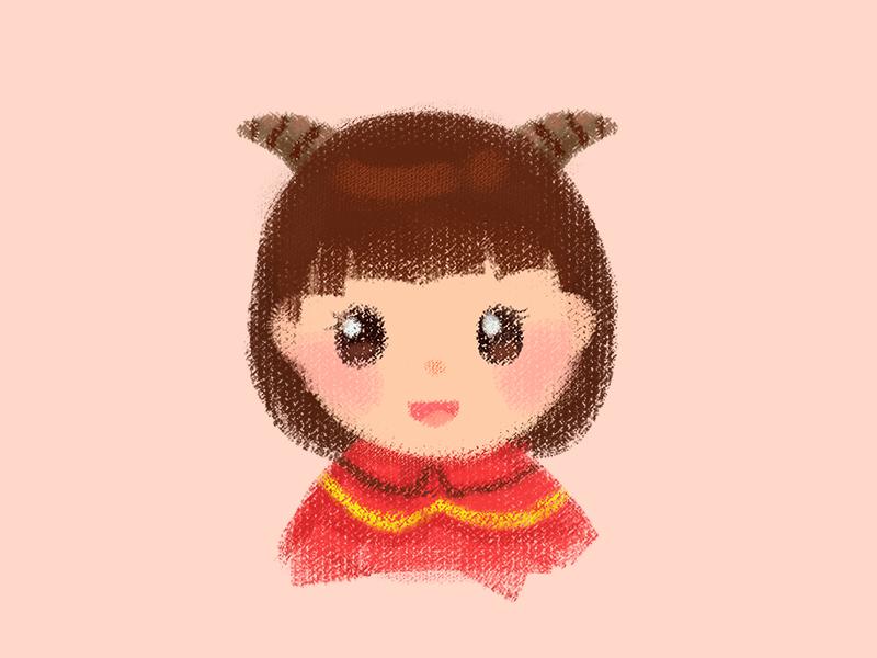 Character avatar cute avatar characer girl illustration
