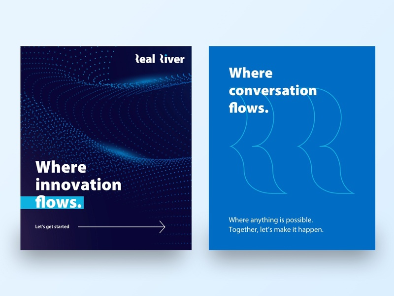 Real River - Branding Concepts branding river concepts blue