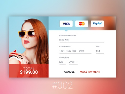 Daily UI - 002 Credit Card Checkout