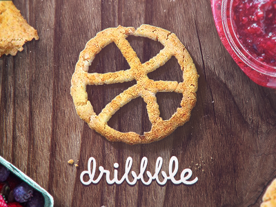 Dribbble first shot evne jam cookie logo dribbble 1st
