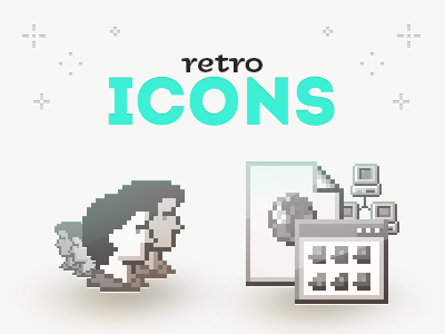 Retro Icons icon icons windows pixel pixelart retro