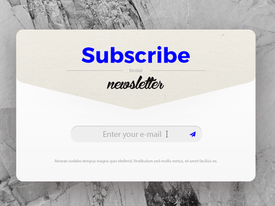 Subscribe e-mail ui subscribe
