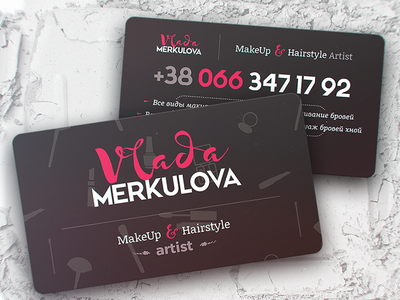 Business Cards for MakeUp Artist artist makeup cards business