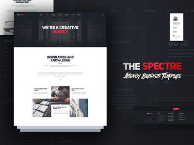 The Spectre webdesign web ux ui template sketch seattle photoshop design
