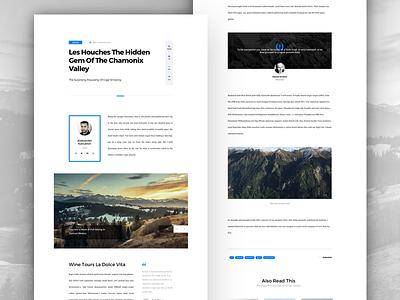 Article UI Set - Page Example macaw freebie free html psd sketch typography web blog article ui ui set