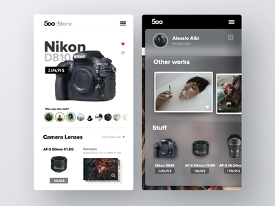 500px:Store uxdesign iphone freelancer marketing photographer iosinspiration ios ui ux uidesign app appdesign