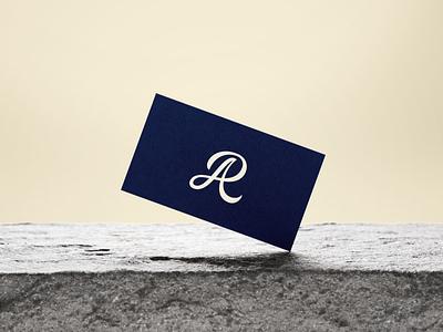 A + R Monogram - Logo concept minimal monogram cursive branding logo illustrative lettering typography