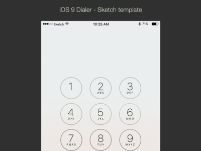 iOS9 Dialer - Sketch Template