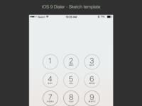 iOS9 Dialer - Sketch Template