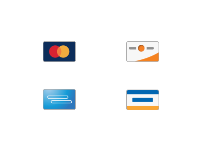 Minimal Credit Card Icons