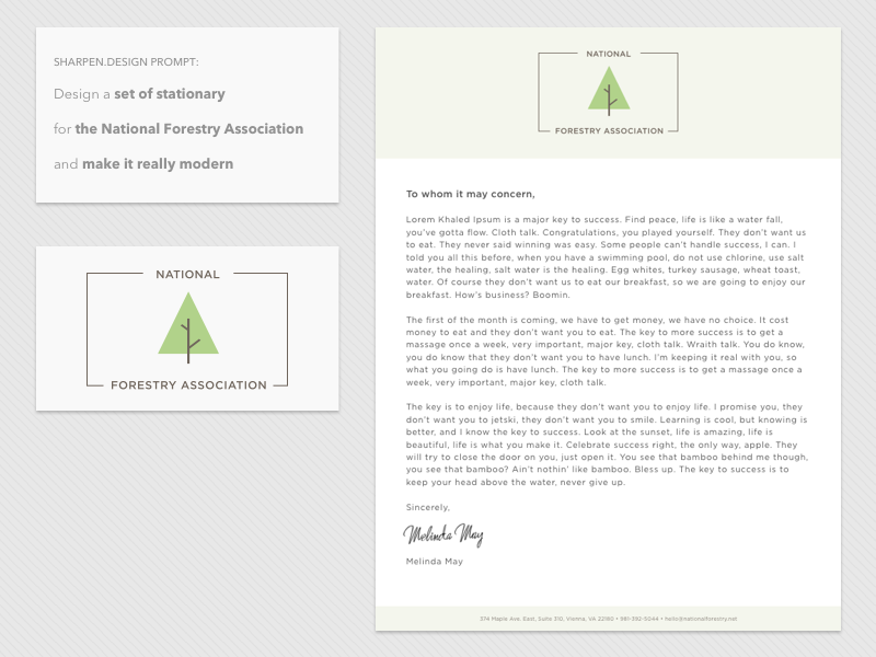 UI Challenge 001 - Set of Stationary design challenge branding forestry logo logo design letterhead tree daily ui challenge design prompt sharpen.design daily ui stationary
