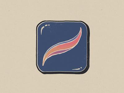 Vintage Procreate Icon branding logo illustration app icon design getcreativewithprocreate