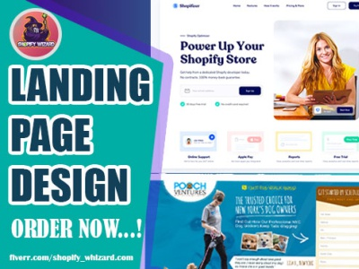 Landing Page design shopify store shopify sales page landing page design landingpage shopify landing page
