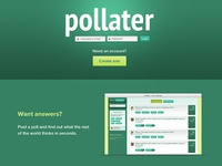 Pollater Homepage