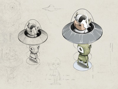 UFO ufo design characterdesign procreate