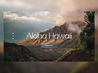 Hawaii concept figma tilda ux ui website design web design web concept hawaii