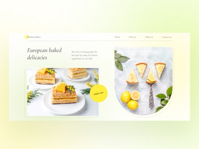 Concept website for a pastry shop landing page website design website cheesecake website landing ux ui confectionery website website cakes bakery website concept webdesign bakery