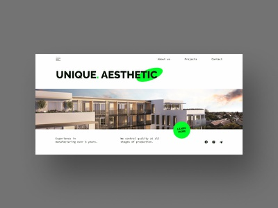 Website for an architectural firm architect website website design webdesign concept ux ui landing page architecture website architecture design architecture architectural firm