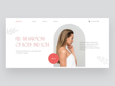 Concept SPA minimalistic minimalism ui design ui website for spa landing page design landing design beauty landing beauty salon beauty spasalon spa