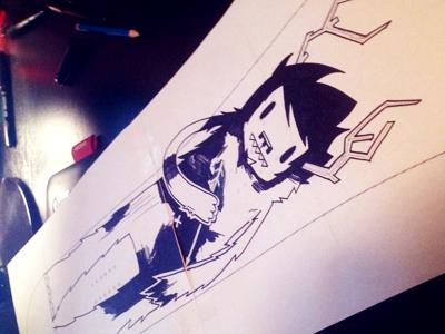 """Snowboard Drawing """"Yeti"""""""